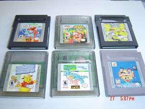 LITTLE KIDS GAME BOY LOT~Color/Advance~ELMO/POOH/TIGGER 772040803612