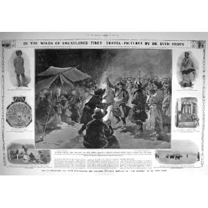 1908 TIBET SVEN HEDIN BUDDHIST TEMPLE WARRIOR BABU