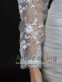 Sheer Lace Tulle Bridal Shawl Wrap Formal Party Jacket Bolero CUSTOMER