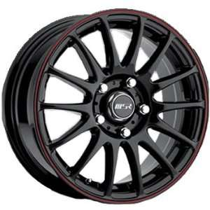 MSR 68 17x7 Black Red Wheel / Rim 5x4.5 with a 35mm Offset and a 72.64