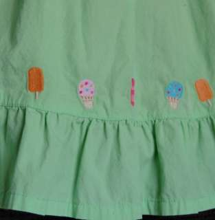 Popsicle Party Baby Girl Green Smocked Summer Dress size 12 18 months