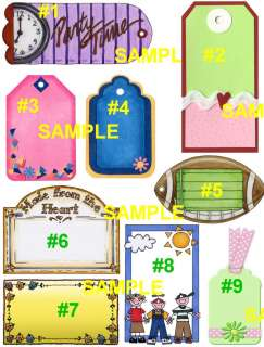Custom Personalized Country Hang Tags Gift Tags New