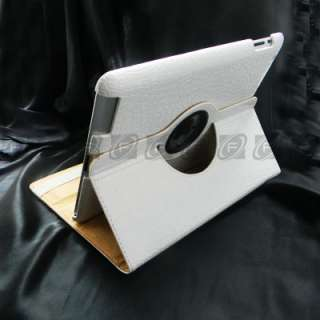 Smart Cover Leather Case Rotating Stand For iPad 2 Golden
