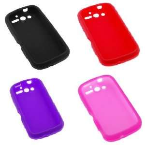com GTMax 4 Silicone Skin Soft Cover Case (Black + Red + Purple + Hot