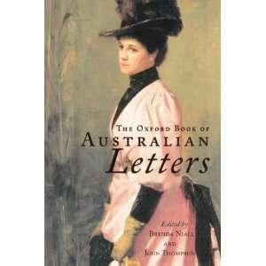The Oxford Book of Australian Letters: John Thompson, Brenda Niall