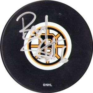 Brad Stuart Autographed Boston Bruins Hockey Puck NHL