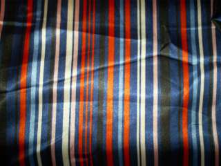 Yards of Polyester & Acetate Striped Fabric in Red, Pink,Black,Blue