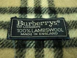 BURBERRYS OF LONDON LAMBSWOOL BURBERRY NOVA CHECK CAMEL LONG WRAP
