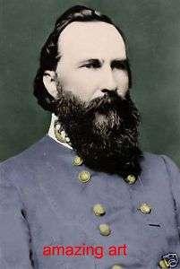 Civil War Painting General James Longstreet in Color