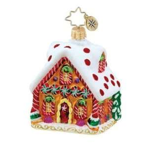 com RADKO TASTY TUDOR GEM Candy House Glass Ornament Home & Kitchen