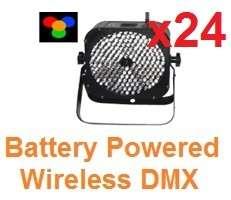 LOT 24 CUBE RGBA DMX Rechargeable Battery Powered LED Par 10mm Eternal