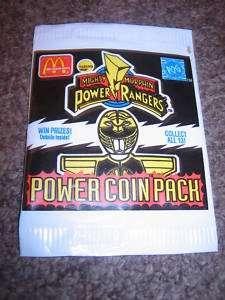 McDonalds Power Rangers Power Coin Pack ~POG
