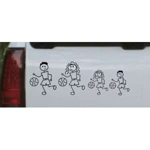 Basketball Stick Family Stick Family Car Window Wall Laptop Decal