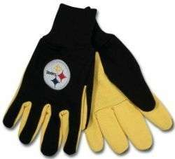 PITTSBURGH STEELERS LOGO GLOVES  WOW