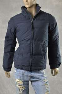 NEW HOLLISTER Mens Coats NEW Down Navy Puffer Warm Coat Jacket Sz M L