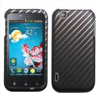 Touch E739 T Mobile MyTouch Carbon Fiber Image Hard Case Cover +Screen