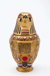 2010 EGYPTIAN CERAMIC QEBEHSENUEF.FALCON CANOPIC JAR