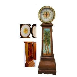Palm Tree Tropical Floor Clock