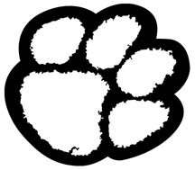 TIGER CAT PAW PRINT animal Vinyl Sticker Decal wall car