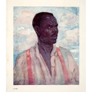1906 Color Print Negro Jamaica Portrait Indigenous People
