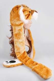 Cartoon Animal Tiger Cap Earmuff Scarf Gloves hat H2705