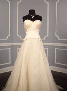 AUTHENTIC Carolina Herrera 35503 Ivory Silk Satin Gazar Bridal Gown