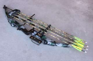 PSE Lightning Flite Camo Hunting Bow RH 30 40 # with Case 4 Arrows