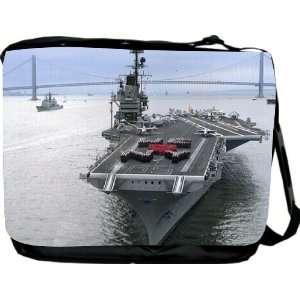 Rikki KnightTM Warship Design Messenger Bag   Book Bag