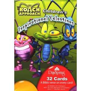 Roach Approach Valentine Cards for Kids with Scripture   Package of 32