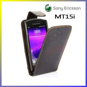 Leather Pouch Case Cover For Sony Ericsson Xperia Neo MT15i
