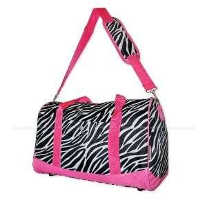 Zebra Duffle Bag Shoulder Tote Bag 18   Dance, Cheer, School, Travel