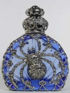 New Czech Spider Blue Perfume Oil Holy Water Bottle Holder