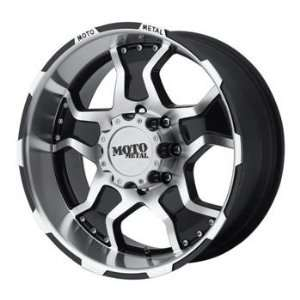 Moto Metal MO957 20x9 Black Wheel / Rim 5x5 with a  12mm Offset and a
