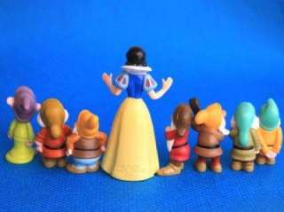 Snow White Seven Dwarfs Disney Princess Figure Set Of 8