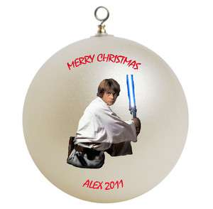 Personalized Star Wars Luke Skywalker Christmas Ornament Add Your Name