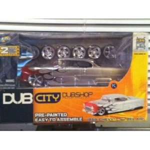 Dub City Old Skool 1955 Chevy Bel Air Silver with Black