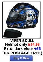 VIPER RS V131 BLUETOOTH4 MOTORCYCLE MOTORBIKE HELMET L