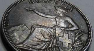 Switzerland   1851 5 Silver Francs Helvetia