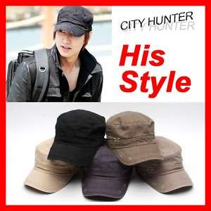 City Hunter, Lee Min Ho Style_Vintage Military Cap_Hat