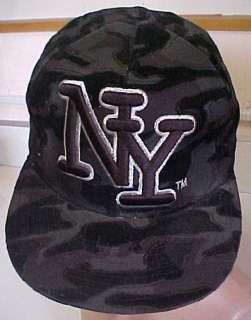 NEW City Hunter NY Fitted Black Camo Cap Hat