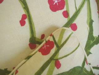 Clarence House Linen Fabric Custom Designer Throw Pillows New 2 Red