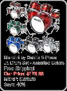 Mendini 5 Piece Full Size Complete Drum Set +DVD Lesson