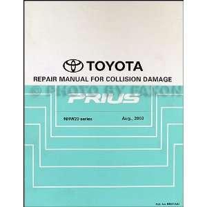 Camry Solara Body Collision Repair Shop Manual Original Toyota Books