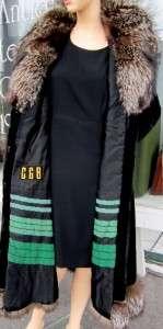 Vtg Womans Real Fox Fur & Sheared Black Lamb Princess Coat Stunning
