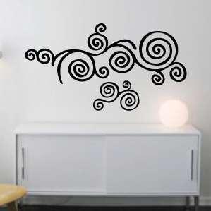 Wall Art Vinyl Decal Sticker Spiral Clouds