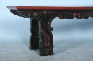 Original Painted Hand Carved Bench from Shanxi Province, China