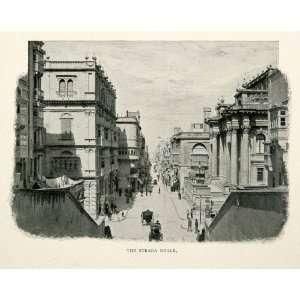 1902 Print Strada Reale Repbulic Street Valletta Malta