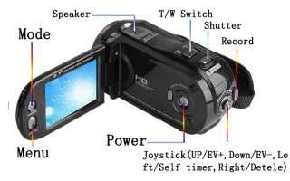 Blk 2.7TFT 12.0MP HD Digital Video Camcorder Camera DV