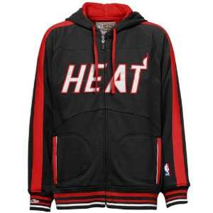 Mitchell & Ness Miami Heat Black Court Vision Full Zip