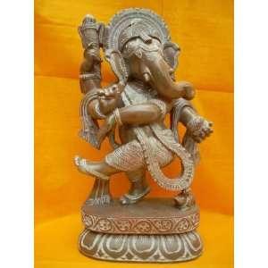 Ganesh Idol Altar Statue Dancing Ganesha Hindu God Stone